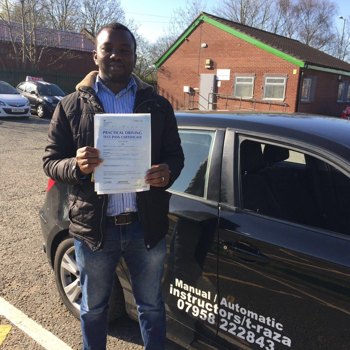 Congratulations Simon on passing first time today #cheethamhilldrivingtestcentre #automaticdrivinglesson.com