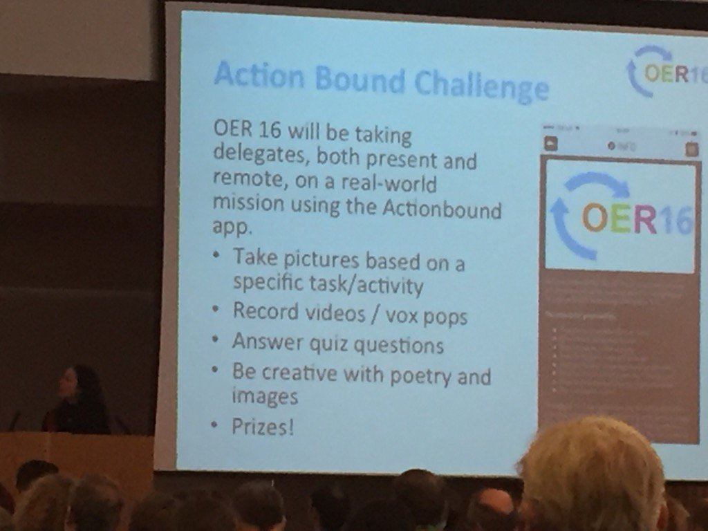 You need to download actionbound app #oer16 https://t.co/uuDaPfhVIP