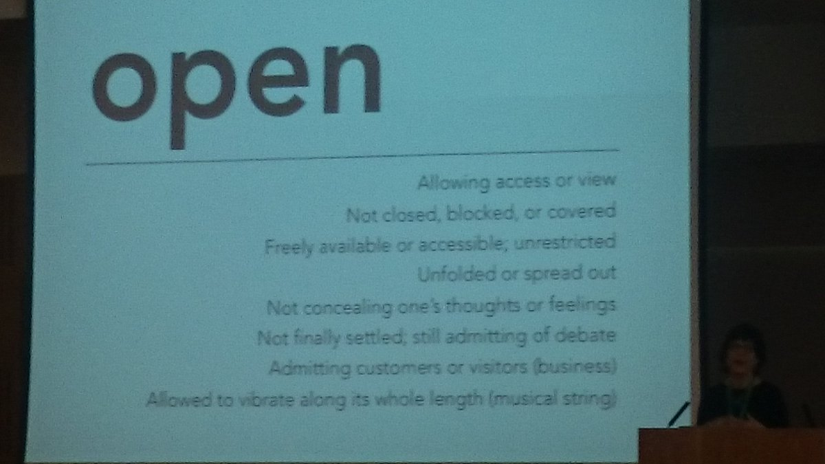 How do you define Open? So many ways, so say hello to someone new and find out theirs! #oer16 @catherinecronin https://t.co/Hgy9hQf6tM