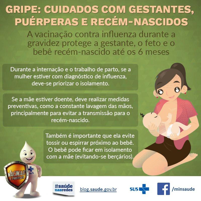 Saiba porque é tão importante a vacinação contra gripe para as gestantes e compartilhe! #VacinaGripe