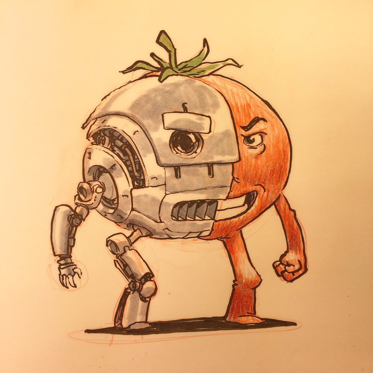 "Jake Parker On Twitter: ""ANDROID-TOMATO! This Idea Came"