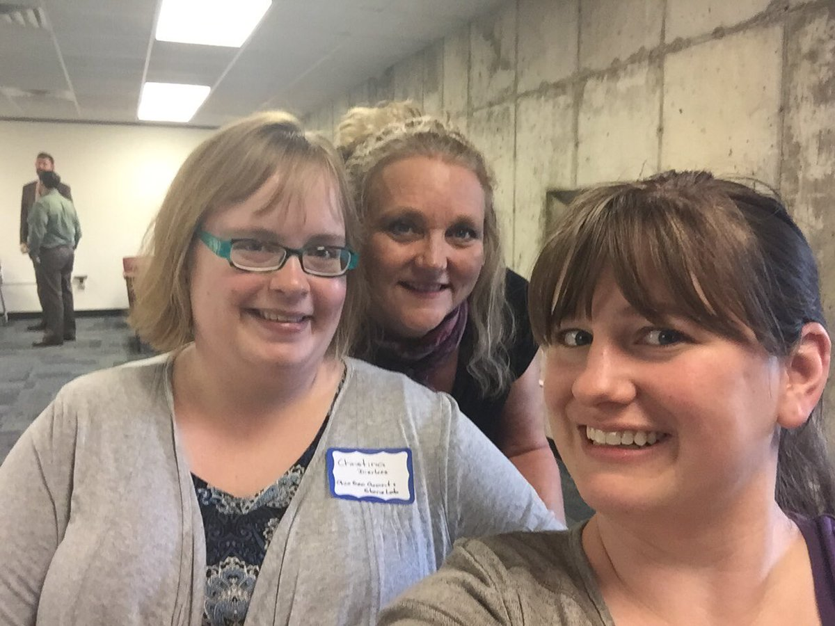 Christina & Lisa with Melinda at a #GreatLakes Communications Wkshp 2day. A blast from the past in more ways than 1! https://t.co/5X6Vq1z9hw