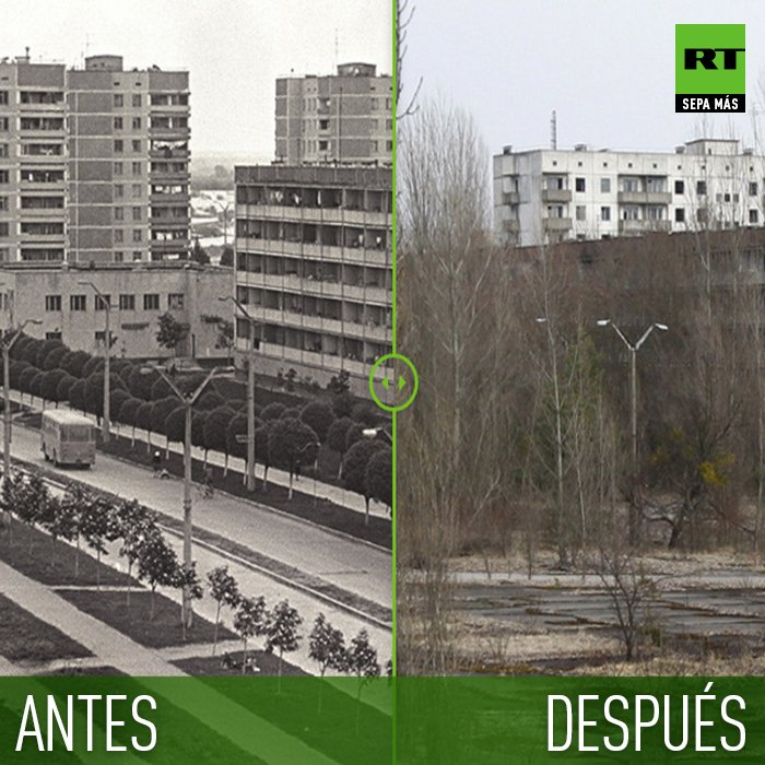 Pripyat chernobyl antes y despues de adelgazar