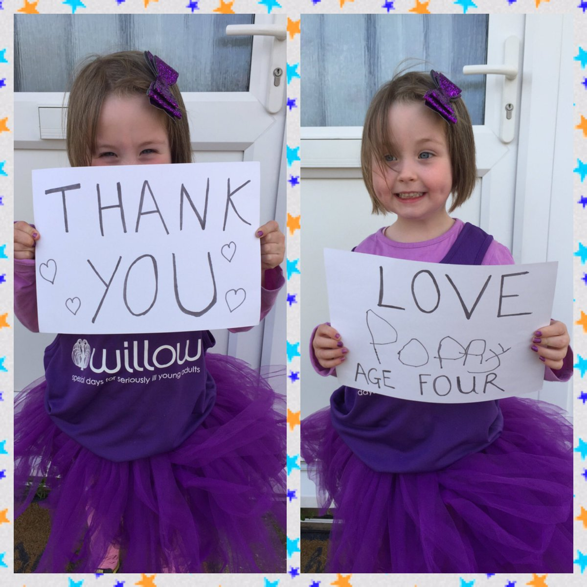 4yrs old and raised almost £1000 for @Willow_Fdn!Beautiful pops had 9' of hair chopped today to donate xx