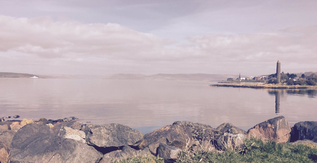 @The_Flower_Room HQ today the weather is beautiful, sun shining and taking a moment to look over #largs #florist