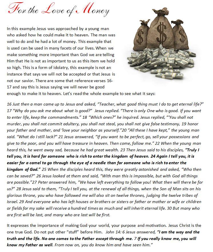 #love of #money #jesusisthesubject #jesussaves #jesus   #follow