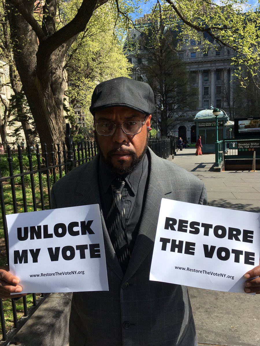 40k NYers can't vote today because they are on parole. It's time to change the law & #RestoreTheVoteNY https://t.co/qguY4rfs7B