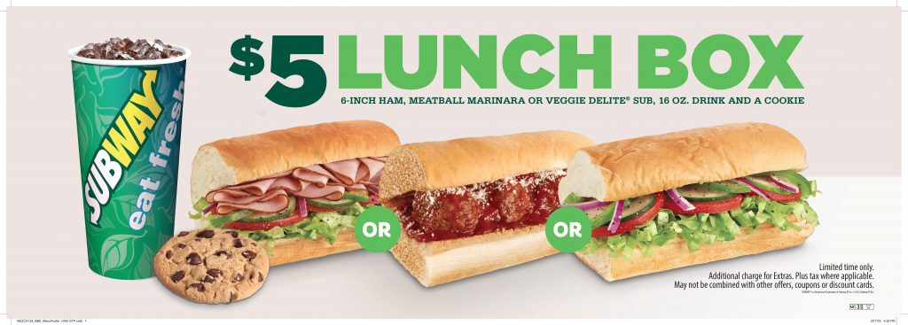 Subway $5 lunch