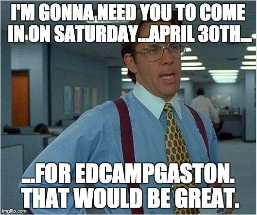 8 more days until #EdCampGaston! Register at https://t.co/8aO9vr60C5  #gcsk12 https://t.co/K4uLg2JaI3