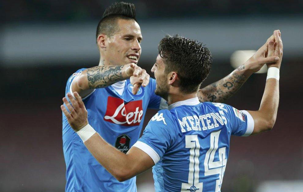 NAPOLI-BOLOGNA 6-0 Video Gol: Gabbiadini (doppietta), Mertens (tripletta) e David Lopez
