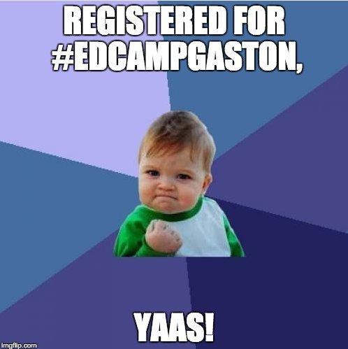 9 more days until #EdCampGaston! Register at https://t.co/8aO9vr60C5  #gcsk12 https://t.co/JjNv94q1Ma