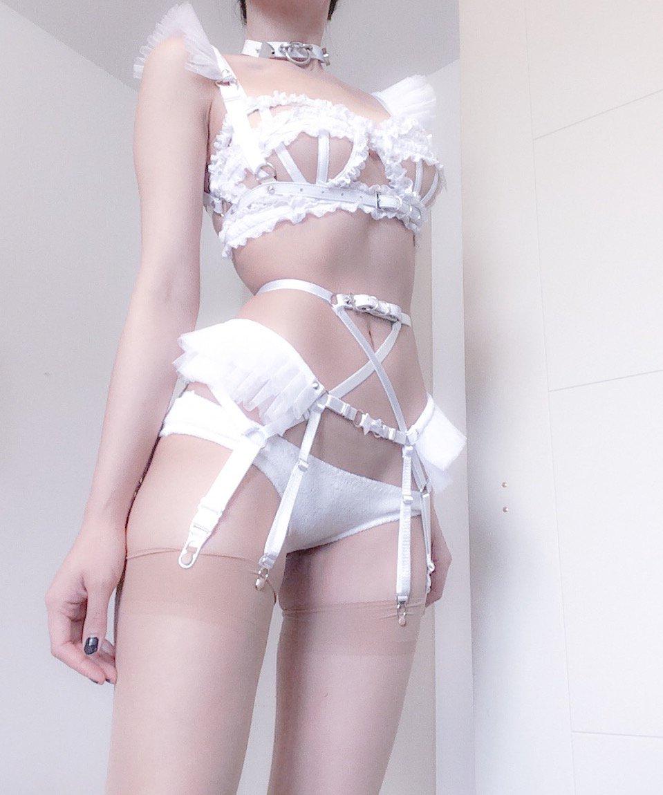 image Bdsm girl white fishnets gets groped heavily