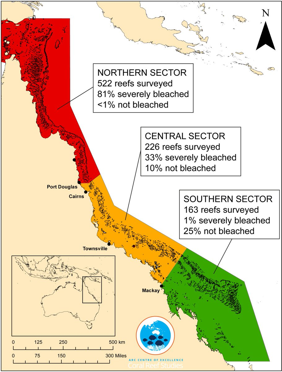 Great Barrier Reef Karte.Terry Hughes On Twitter I Showed The Results Of Aerial Surveys Of