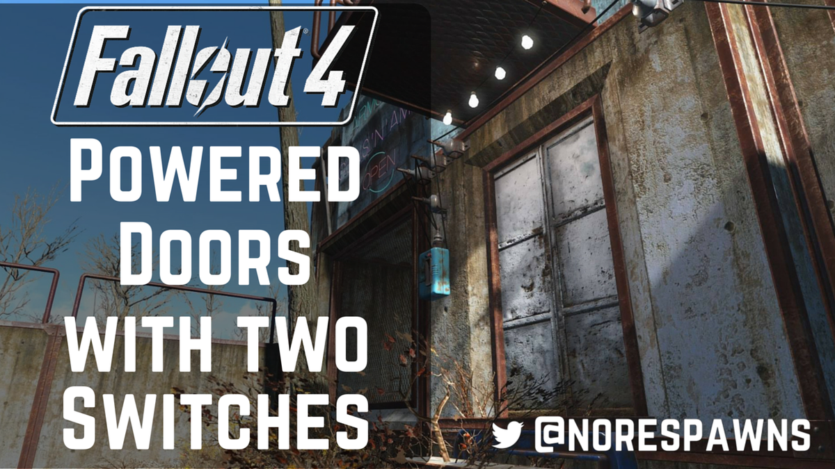 Davey on Twitter  #Fallout 4 Guide - How to make Powered Doors with two switches - //t.co/RUVNAGvTNr - try not to get confused.u2026   & Davey on Twitter: