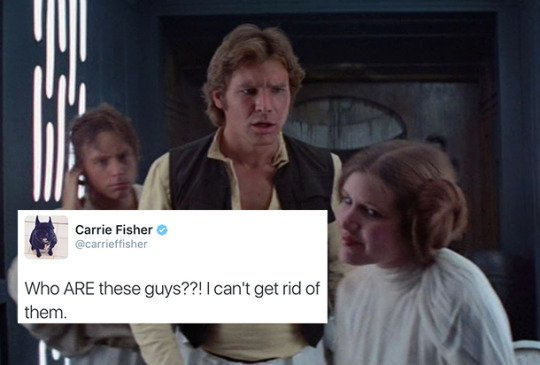 star wars as carrie fisher tweets https://t.co/NYcNl0FjhY