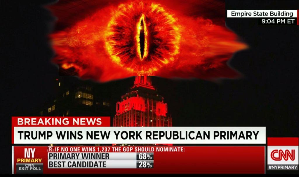 Looks like the end times are upon us according to @CNN #eyeofsauron #NYPrimary https://t.co/7KAcU5RjAn