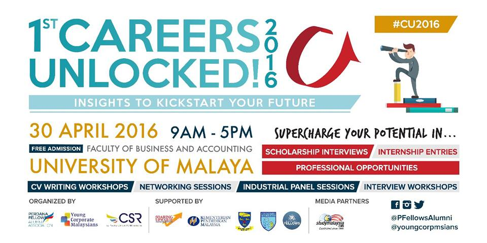 #YCMCSR 10 days to Careers Unlocked 2016! Open to F5/Uni students & young execs! Sign up now https://t.co/OYbzJ8JnRk https://t.co/mKhQ2Z0uGa