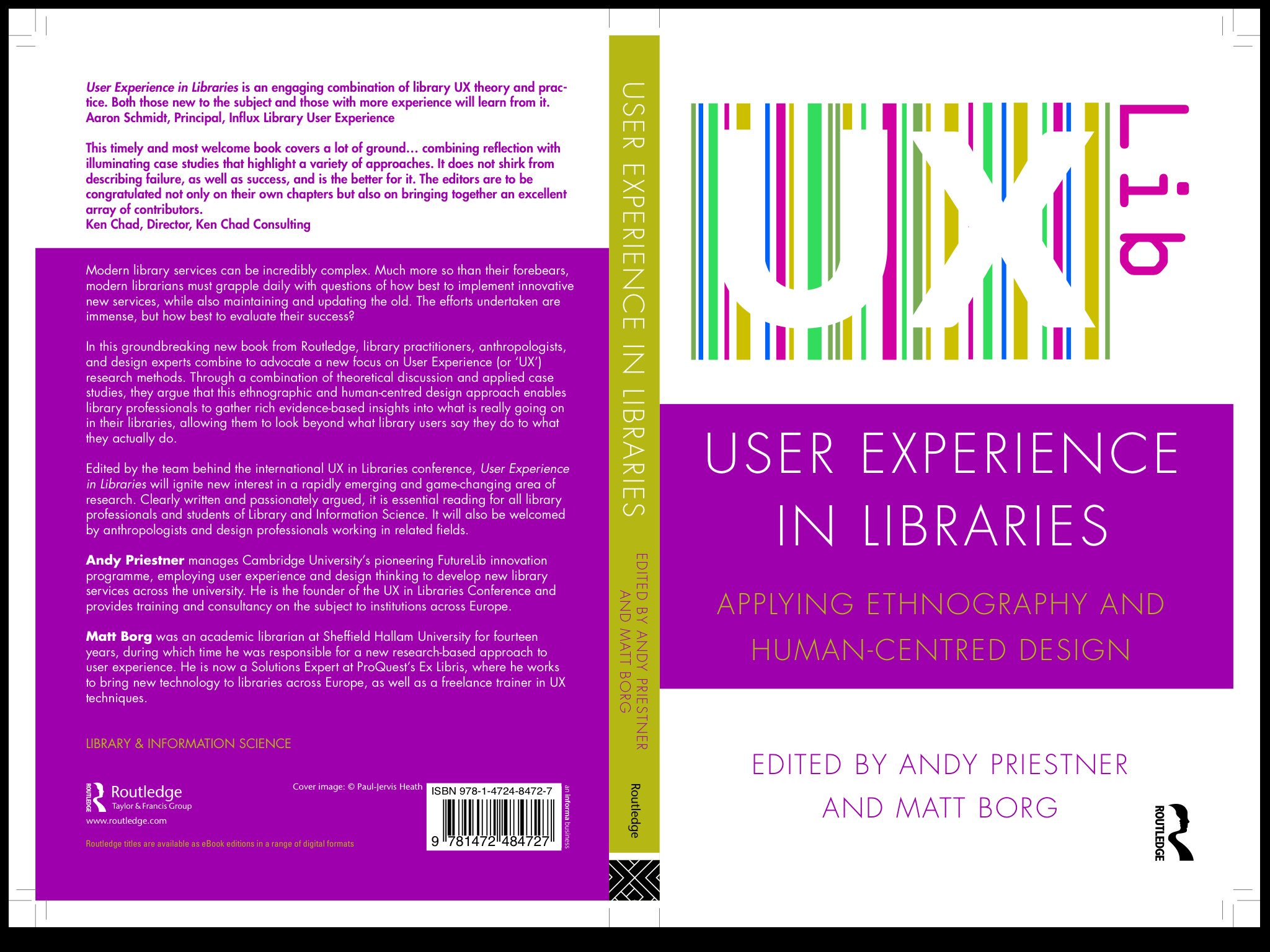 Ux In Libraries On Twitter The New Uxlibs Book Front And Back Cover Proof Special Discount Rate For Conference Attendees
