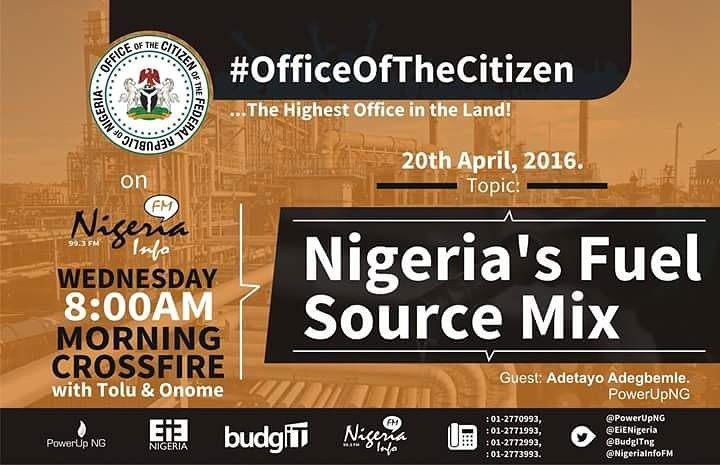 Thumbnail for #OfficeOfTheCitizen - Nigeria's Fuel Source Mix