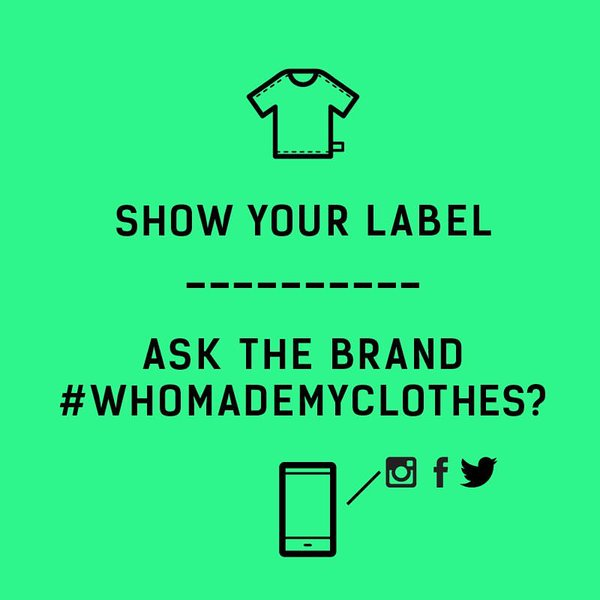 Its #FashionRevolution week! Join us in calling for a transparent fashion industry. #whomademyclothes #showyourlabel https://t.co/u7D1Mh3EuO