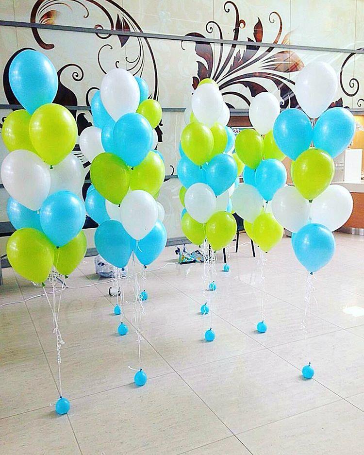Сочетание воздушных шаров по цветам фото