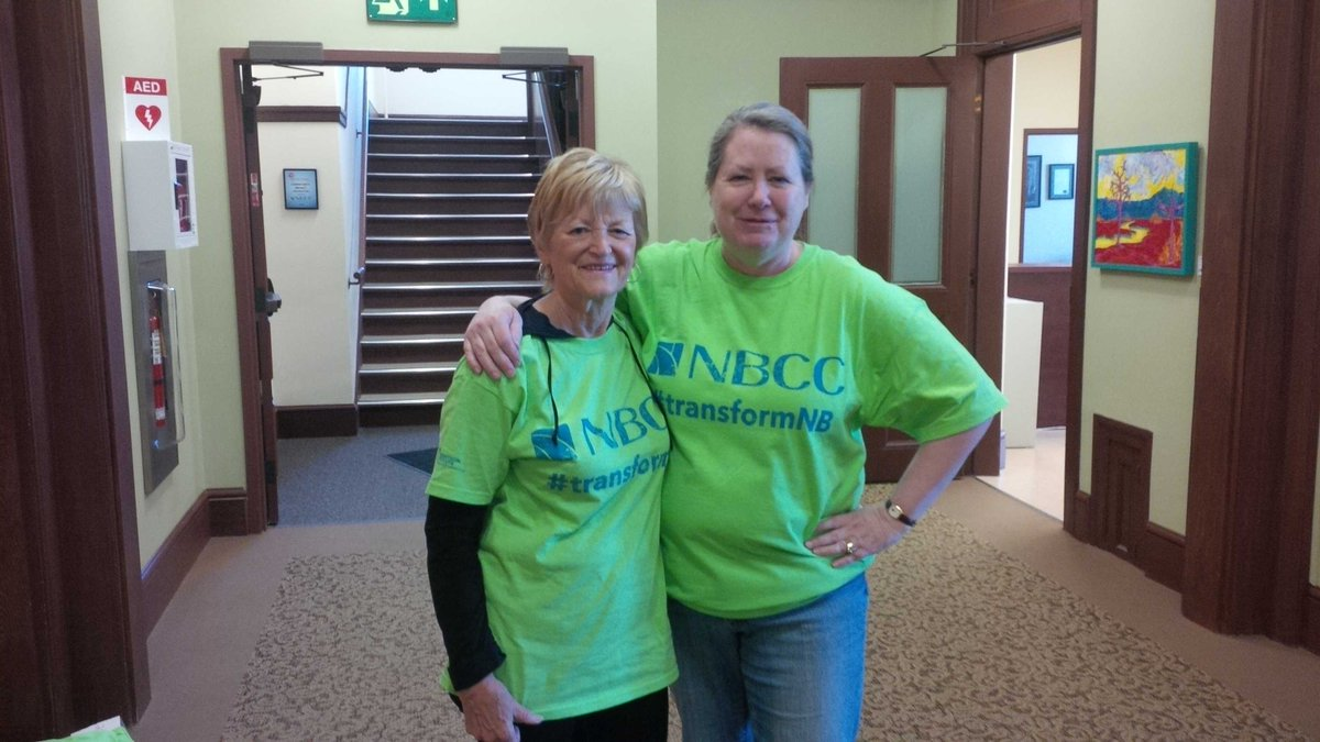 Watch the sea of @myNBCC green make waves for community leadership today. #transformNB https://t.co/dNH9wR3UGn