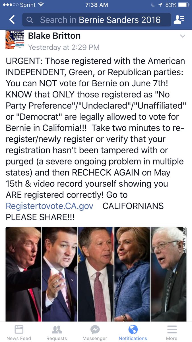 Please Retweet. #California #CA #Bernie #FeelTheBern #Californiaforbernie #Calif #Bernie #Bernie2016