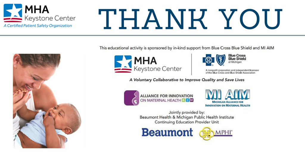 Thank you to all of our #MHAKeystone: OB Workshop event sponsors and partners! https://t.co/WdBdFBZA5r
