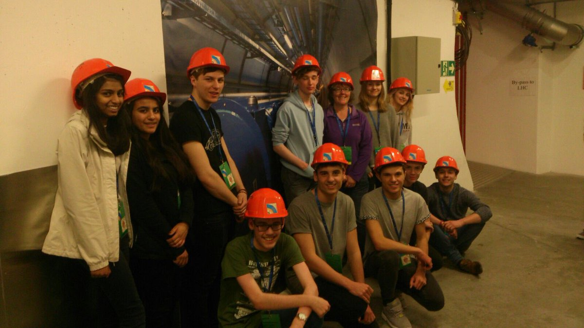 Our Physics students 100m underground visiting the CMS detector at Cern, Geneva.
