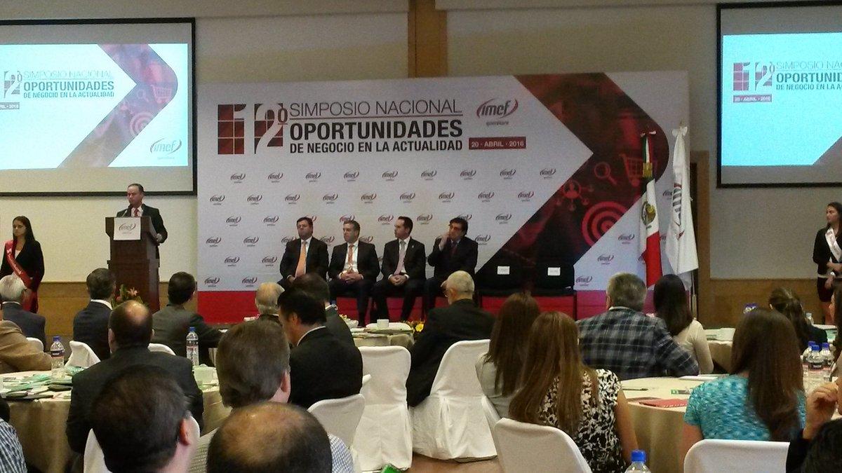 Inauguracion del 12 Simposio Nacional de IMEF Grupo Querétaro @IMEFOficial @joaquingandara https://t.co/vqasgN01n0