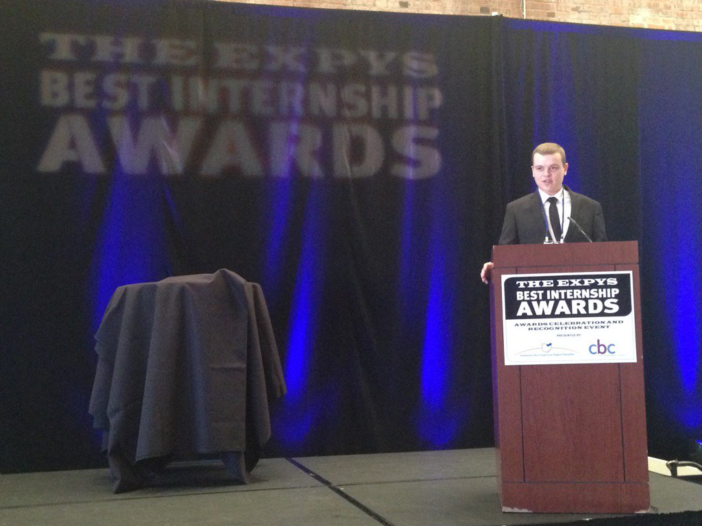 "Ross Richey, 2015 Best Intern: keynote speaker #EXPYS2016 @SherwinWilliams : ""It never felt like work to me."" https://t.co/SEb37GSbJc"