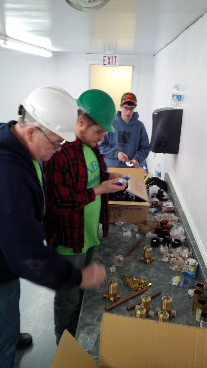 Plumbers replacing faucets for #transformnb #shiktehawk @myNBCC https://t.co/XGaUMsYf2A
