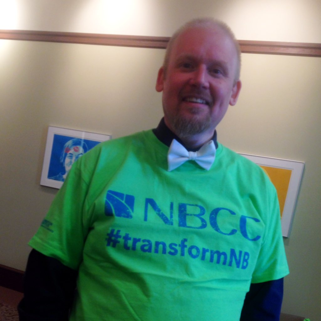Green tee? Check. Bow tie? Check. @myNBCC's intrepid Director of Finance is ready to #TransformNB https://t.co/zwUV4kOkcL