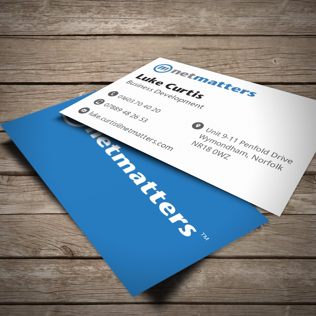 Display products ltd on twitter business cards for netmattersltd reheart Image collections