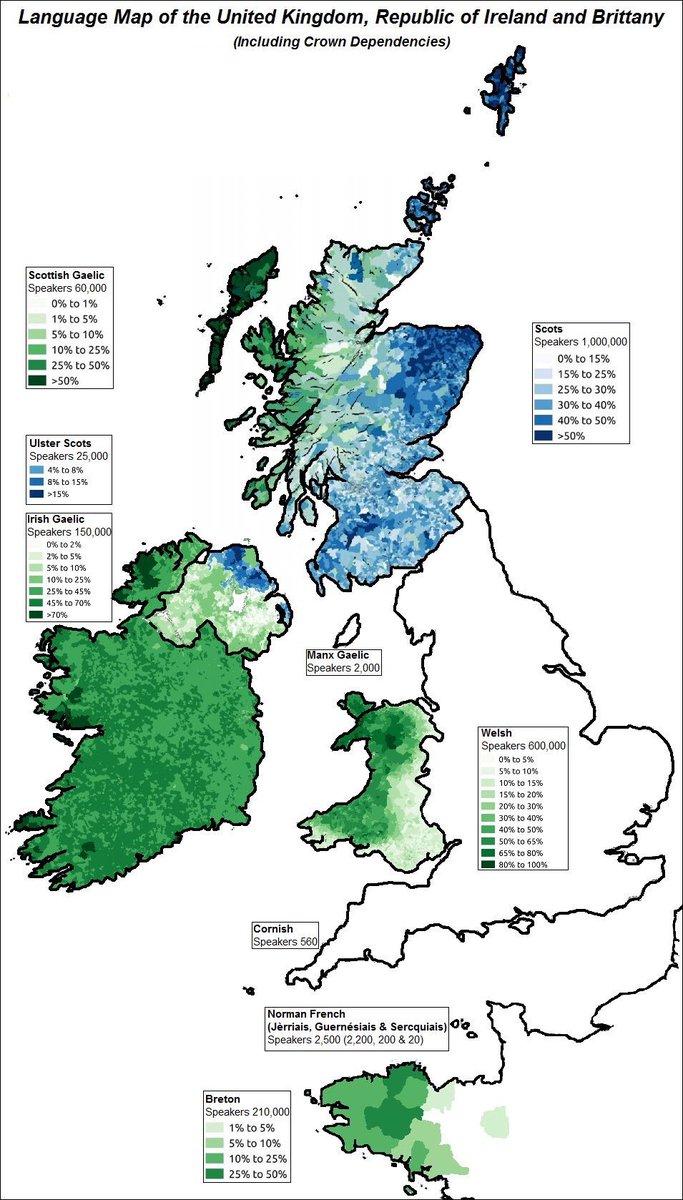 UK Languages Mapping on Twitter Language map of the UK Ireland