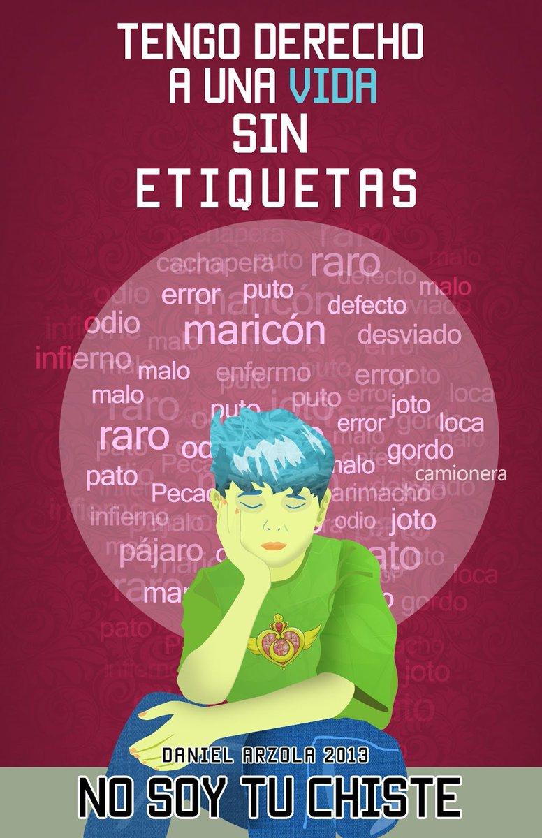 Eres más que una etiqueta  @Arzola_d, campaña @nosoytuchiste #SexualidadDiversa https://t.co/p1BYlfEElR
