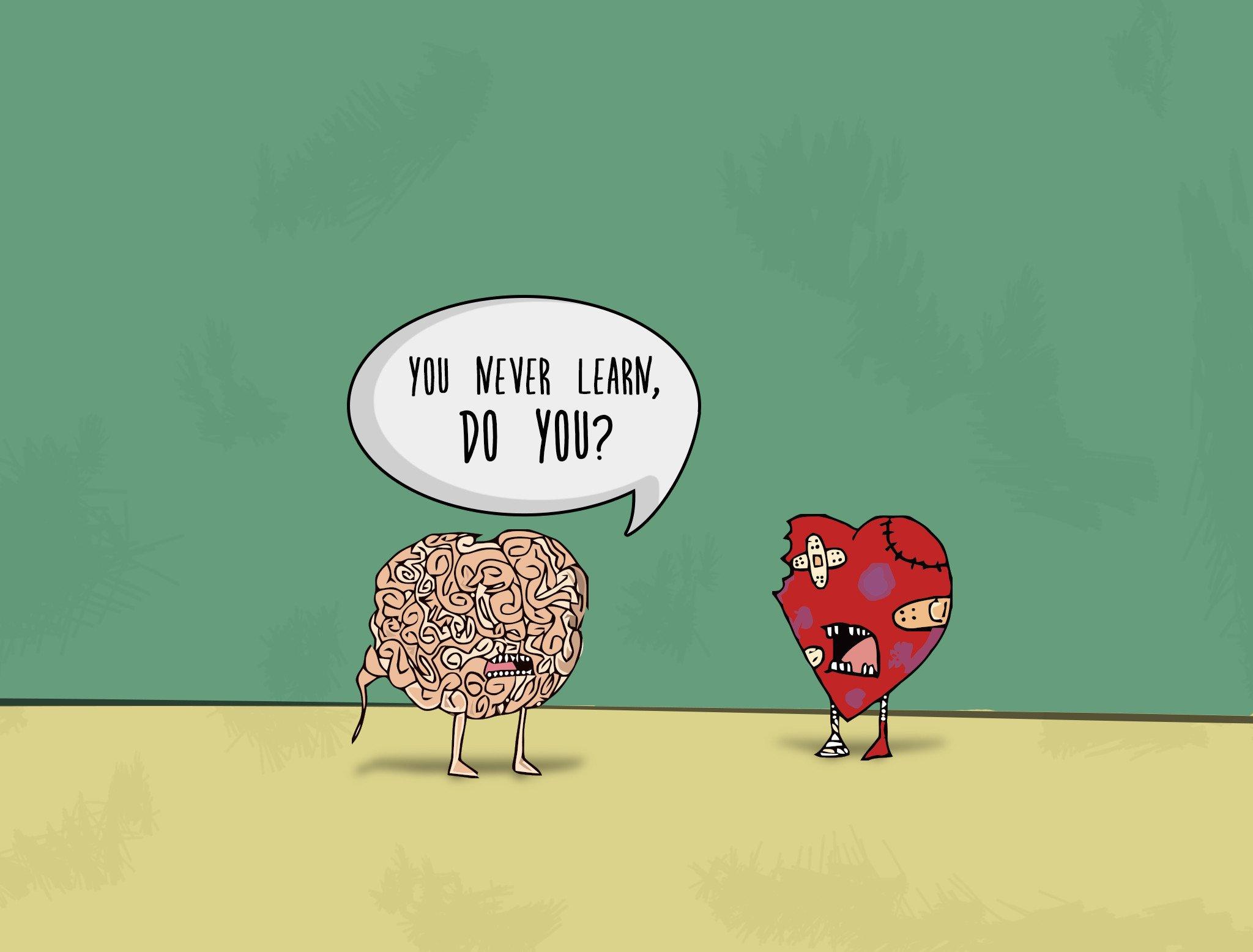 Смешные картинки сердце и мозги, анимационные днем рождения
