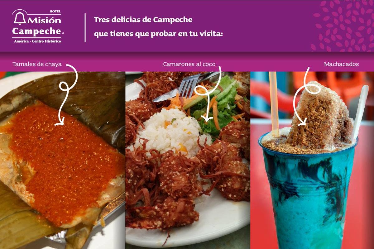 Campeche cuenta con deliciosa gastronomía. Haz del Hotel Misión Campeche tu centro de operaciones ¡y sal a probarla! https://t.co/lhuben0mlG
