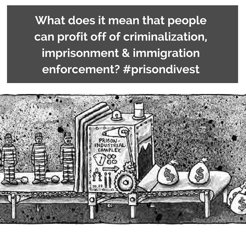 Q1: What does it mean that ppl  profit off of criminalization, imprisonment & immigration enforcement? #PrisonDivest https://t.co/BaYXb9wZNw
