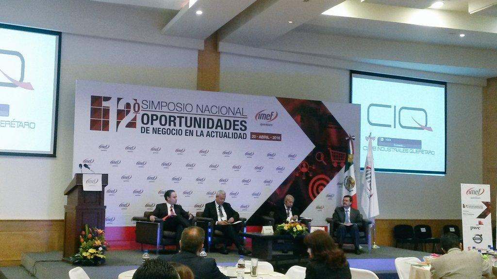 Da inicio el panel de conclusiones del 12 Simposio de @IMEFOficial Grupo Querétaro @joaquingandara https://t.co/MORfupJKtU