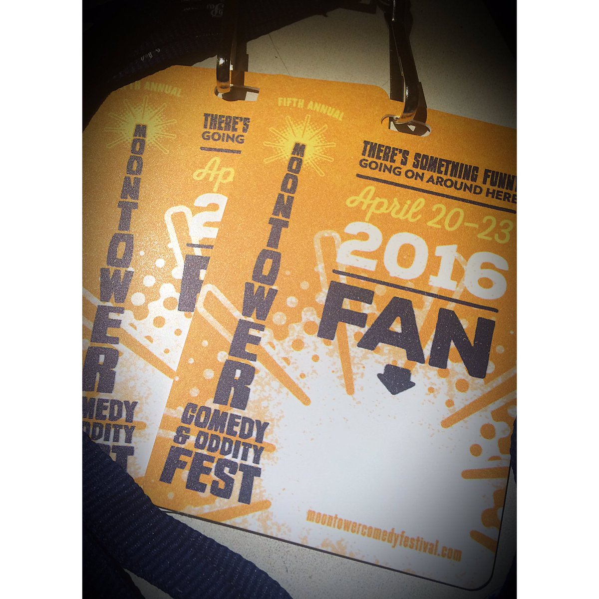 We've got a pair of @MoontowerComedy Fest Fan Badges up for grabs. RT to WIN! https://t.co/kOw8eHfbM9
