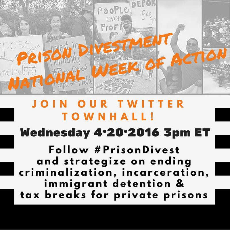 Learn more about efforts to get colleges, cities and agencies to divest from private prison industry #PrisonDivest https://t.co/noaudWRC4j