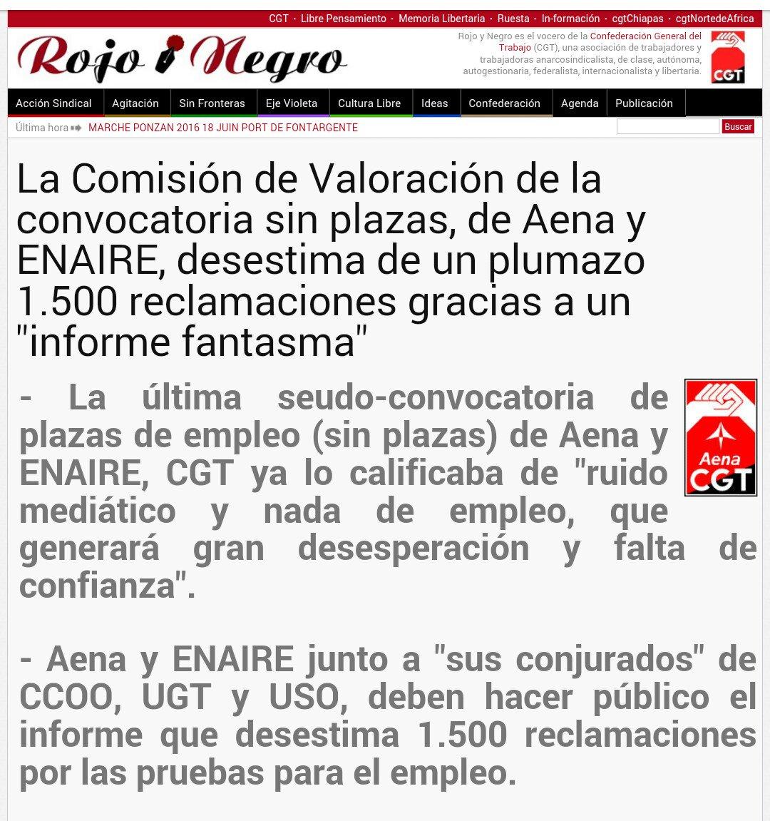 La Comisión de Valoración de la convocatoria sin plazas, de Aena y ENAIRE, desestima de un plumazo 1.500 reclamaciones gracias a un informe fantasma