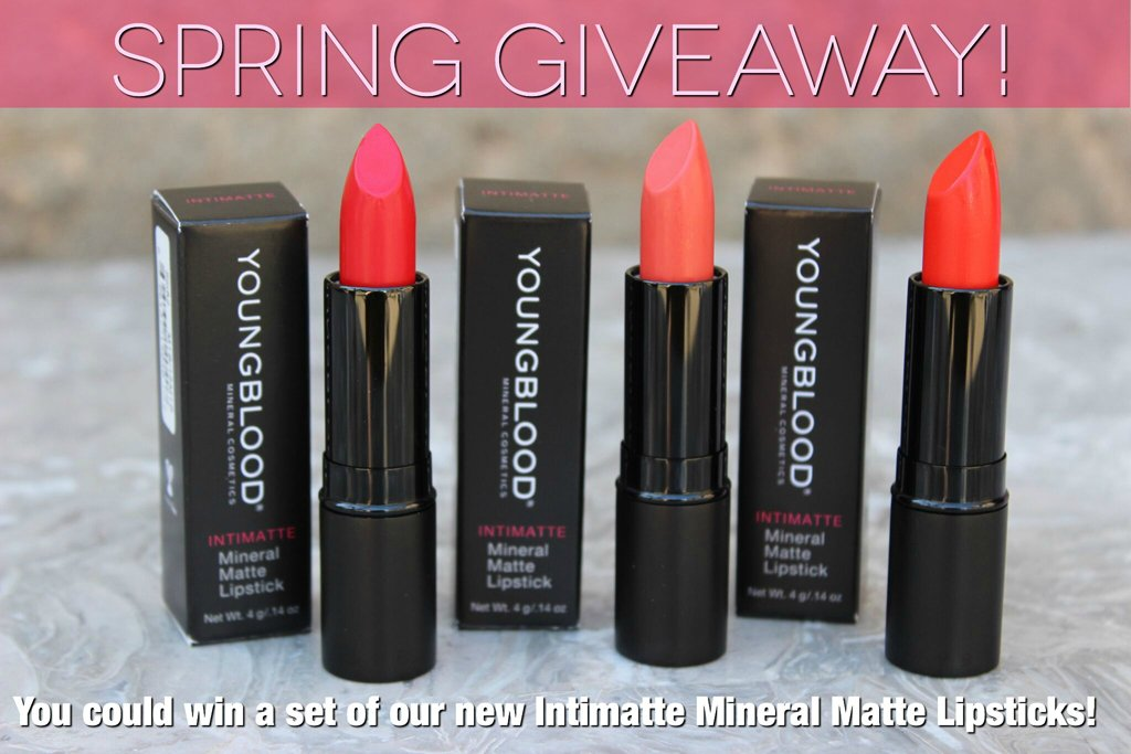 #Giveaway! RT & follow @ybcosmetics to enter to #WIN 3 NEW Intimatte lipsticks! Ends 4/22, US only, 18+ https://t.co/ERkud4803I