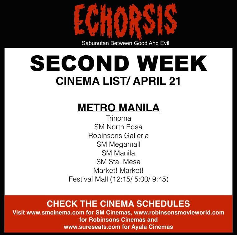 More cinemas today for Echorsis! @alexvincentm @keancipriano @KorekKaJohn https://t.co/TB0rM50NJ8