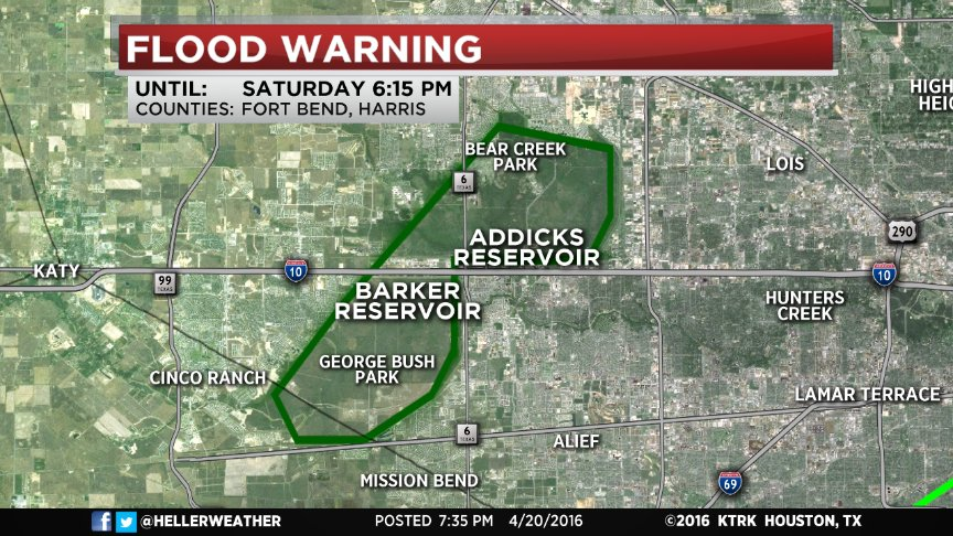 Bear Creek Park Houston Map.Tim Heller On Twitter First Time Ever Flood Warning Issued For