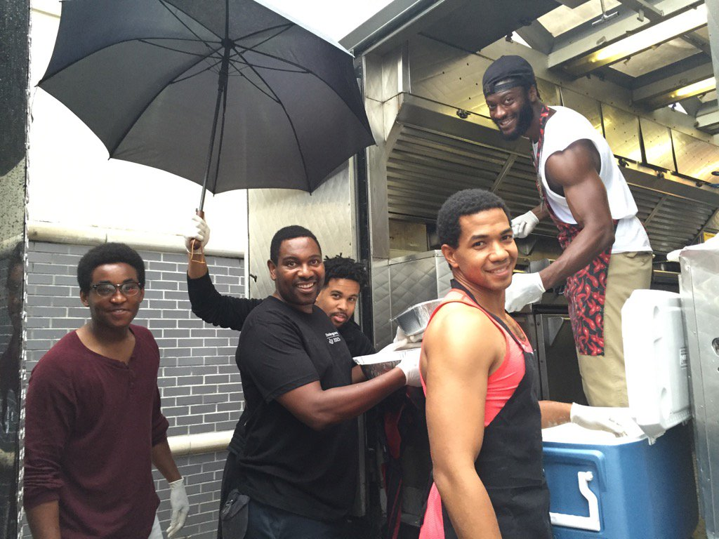 That moment when the fellas from #UndergroundWGN made beignets for the crew!