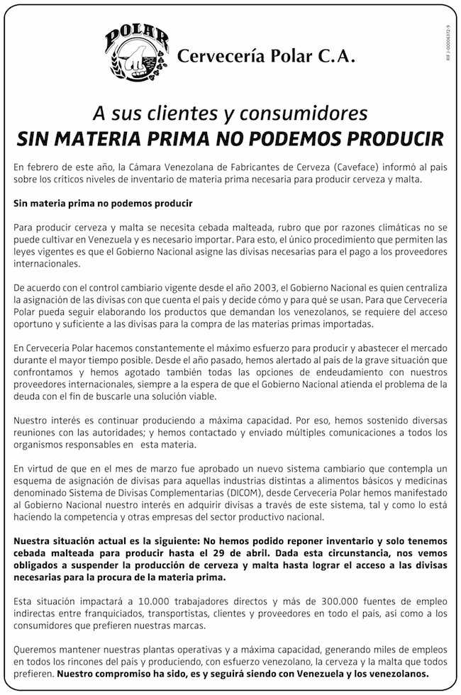 SIN MATERIA PRIMA NO PODEMOS PRODUCIR https://t.co/uHASGtEYvc https://t.co/YCNvu2CWxn