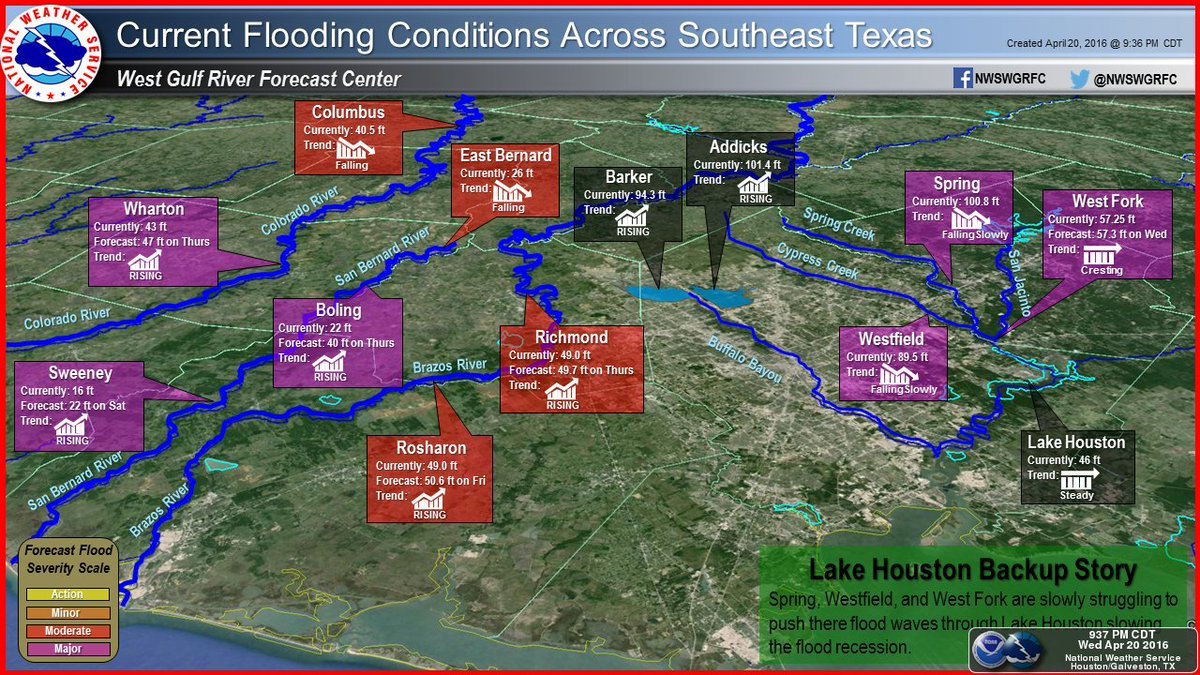 Kprc 2 Houston On Twitter Great Nws Map On Current Flood
