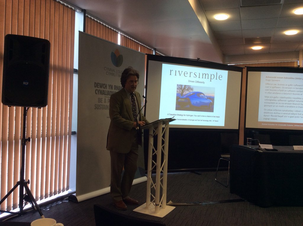 @CynnalCymru Hugo Spowers  #Riversimple celebrating Wales. A resilient ecosystem is a much safer place to be! #sws16 https://t.co/AGM9qqfFz6